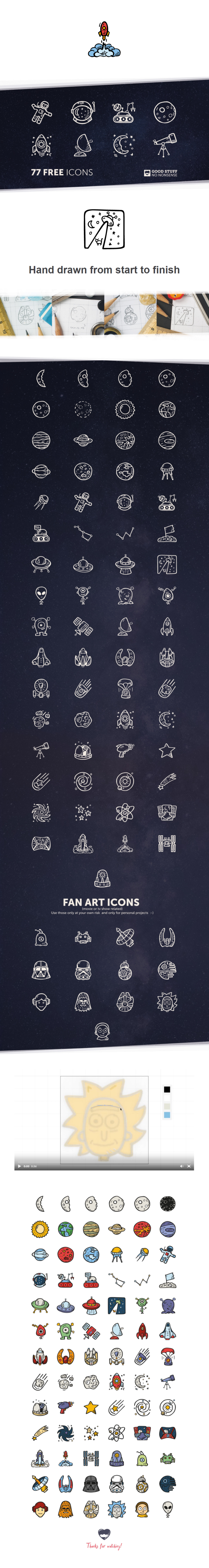 space-icon-pack-free