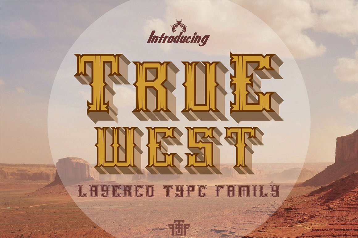 Шрифт «True West»