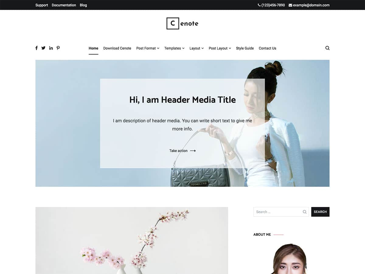 cenote-free-wordpress-blog-theme